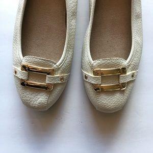 Aerosoles Bone sherbet Flats Size 7 /Gold buckle